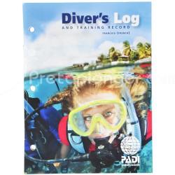 PADI Accessoires - Carnet de plongée Diver's Log.